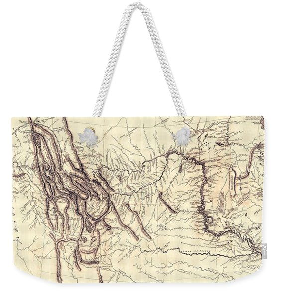 Map Of The Lewis And Clark American Expedition, 1804-1806, Published 1814 Weekender Tote Bag