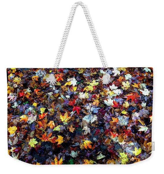 Weekender Tote Bag featuring the photograph Maple Chaos by Wayne King