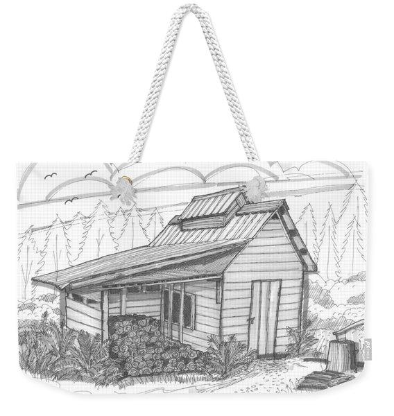 Maple Sugar House Weekender Tote Bag