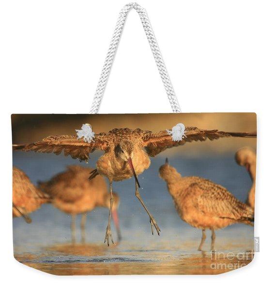 Marbled Godwit Landing Weekender Tote Bag