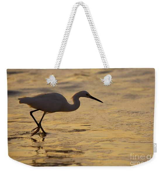 March Of The Egret Weekender Tote Bag