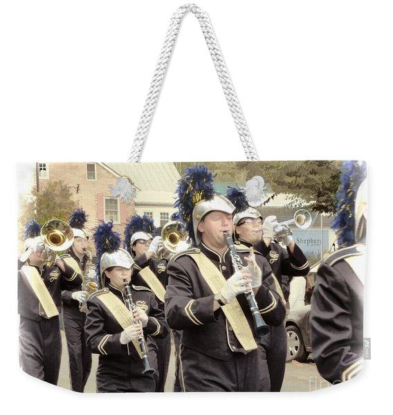 Marching Band - Shepherd University Ram Band At Homecoming 2012 Weekender Tote Bag