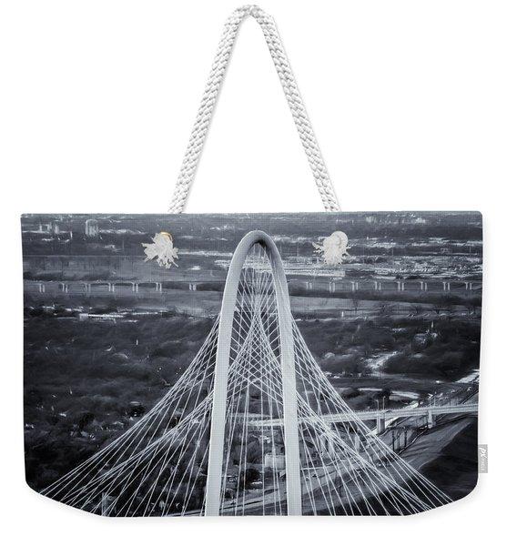 Margaret Hunt Hill Bridge Central Arch Bw Weekender Tote Bag