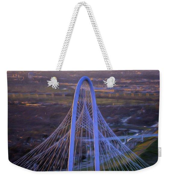 Margaret Hunt Hill Bridge Central Arch Weekender Tote Bag