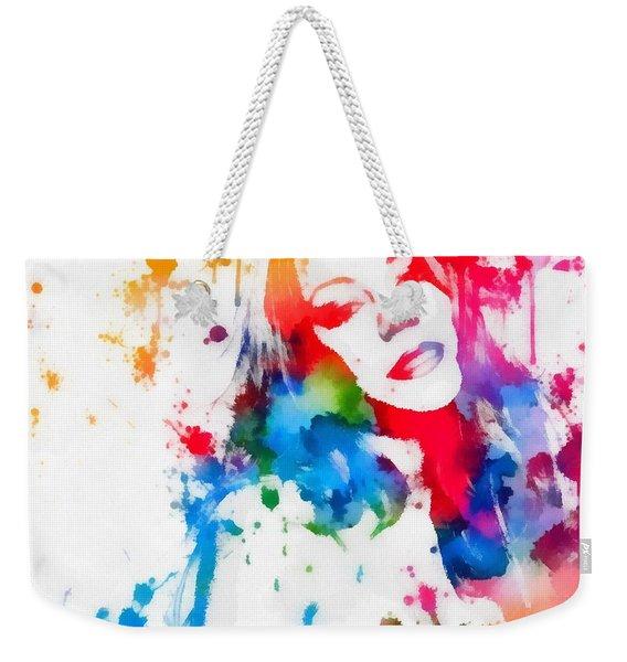 Mariah Carey Watercolor Paint Splatter Weekender Tote Bag
