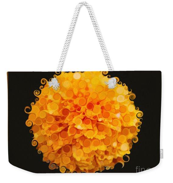 Marigold Magic Abstract Flower Art Weekender Tote Bag