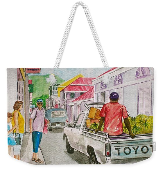 Marigot St. Martin Weekender Tote Bag
