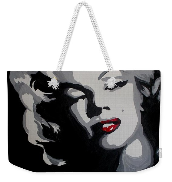 Marilyn Monroe Red Lips Weekender Tote Bag