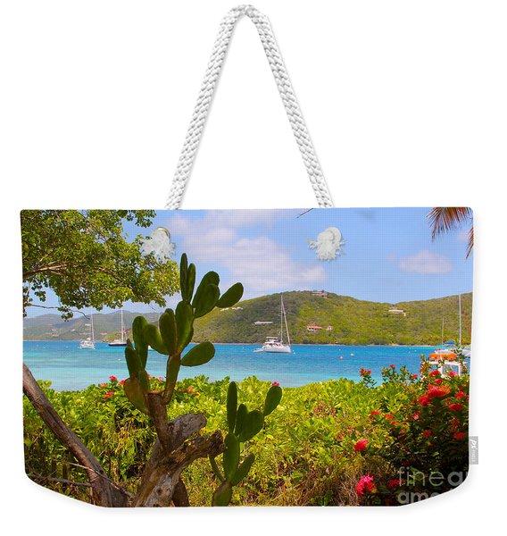 Marina Cay View Weekender Tote Bag