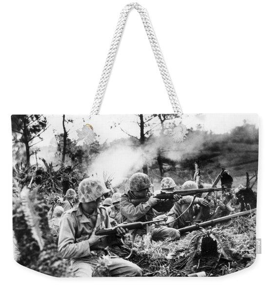 Marines In Okinawa Weekender Tote Bag
