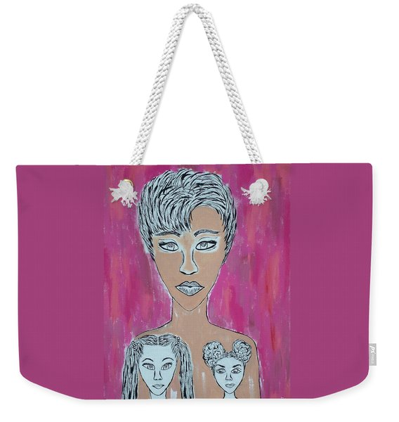 Mother And Daughters Painting And Drawing Weekender Tote Bag
