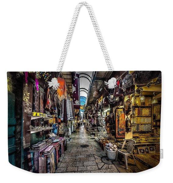 Market In The Old City Of Jerusalem Weekender Tote Bag