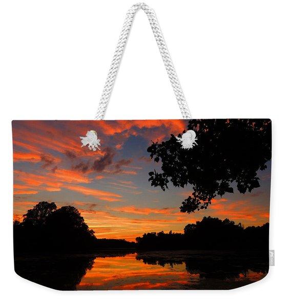 Marlu Lake At Sunset Weekender Tote Bag
