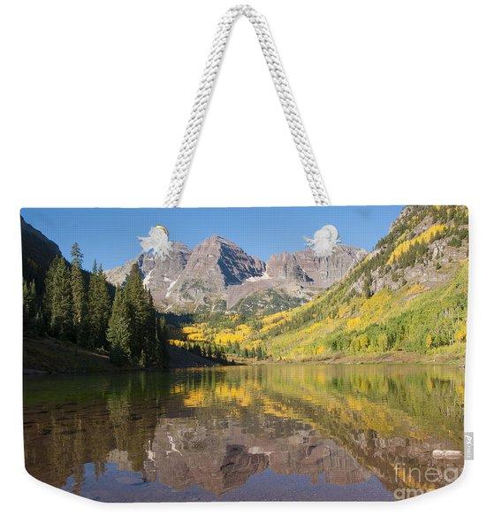 Maroon Bells In Autumn Weekender Tote Bag