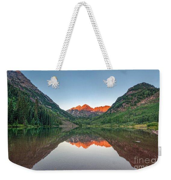 Maroon Lake Weekender Tote Bag