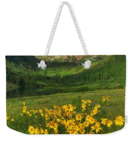 Maroon Summer Weekender Tote Bag