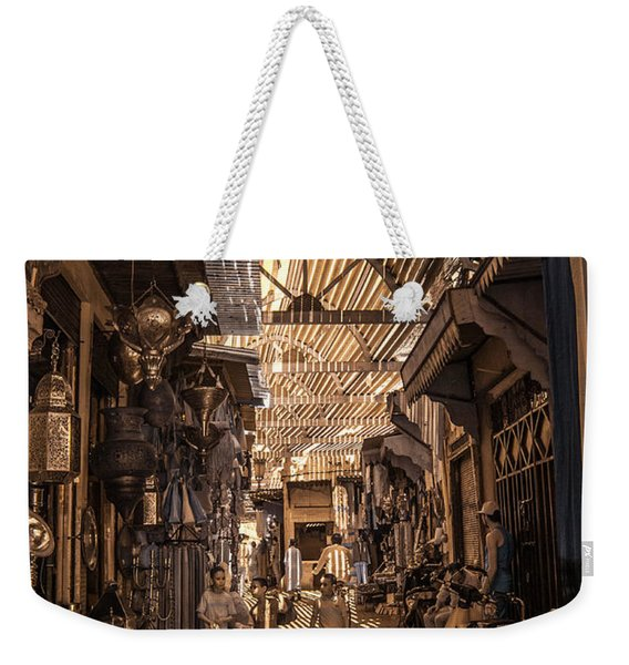Marrakech Souk With Children Weekender Tote Bag