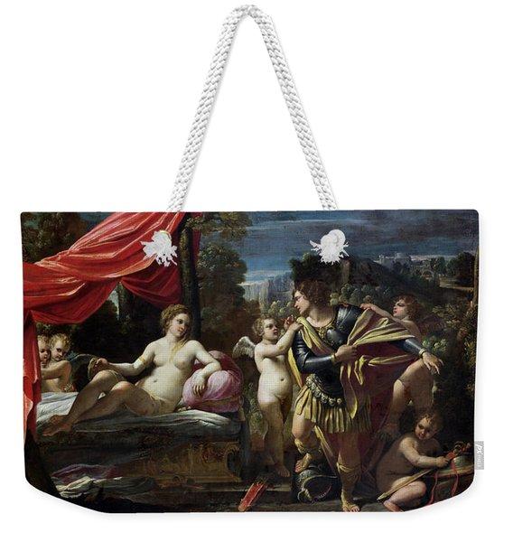 Mars And Venus Weekender Tote Bag