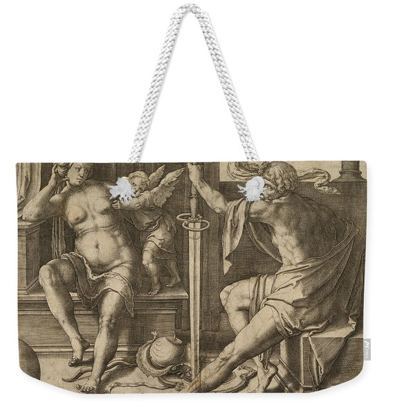 Mars Venus And Cupid Weekender Tote Bag
