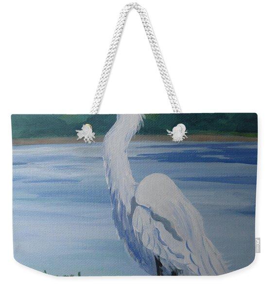 Marsh Land Egret Weekender Tote Bag