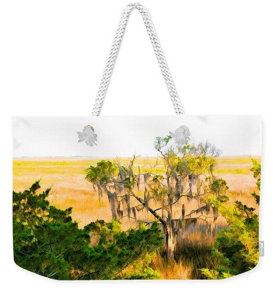 Marsh Cedar Tree And Moss Weekender Tote Bag