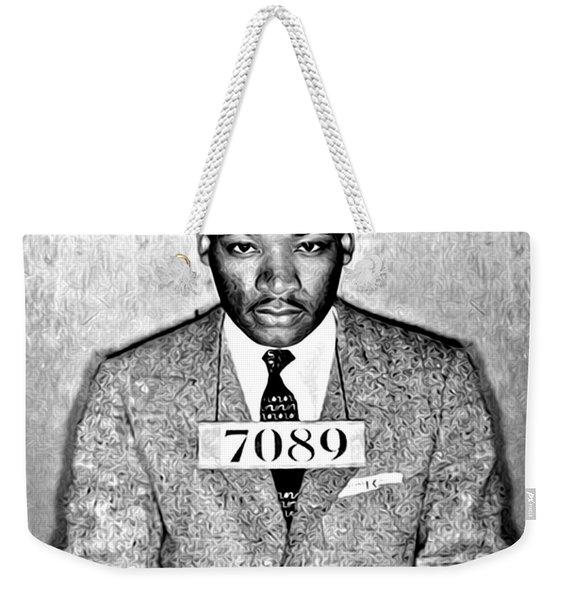 Martin Luther King Mugshot Weekender Tote Bag