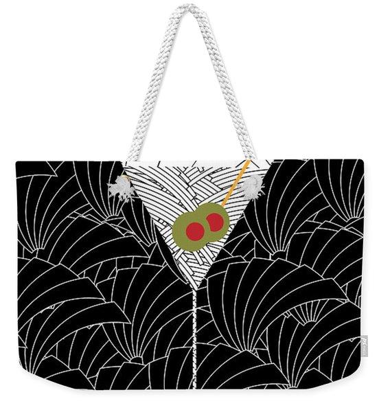 1920s Martini Cocktail Art Deco Swing   Weekender Tote Bag