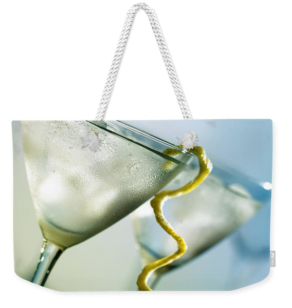Martini With Lemon Peel Weekender Tote Bag