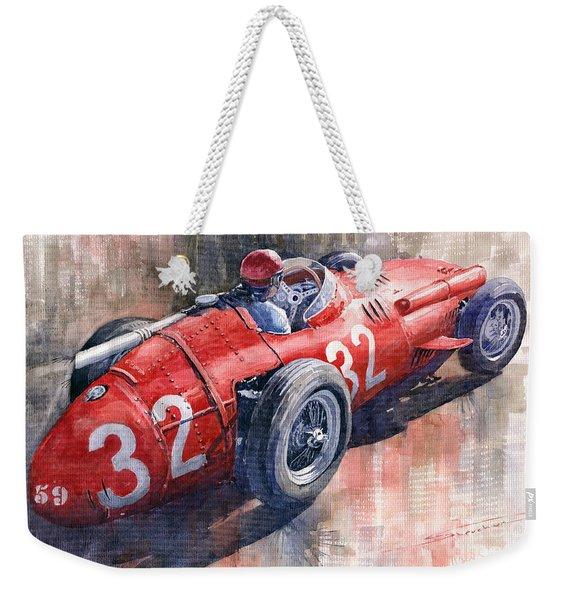 Maserati 250f J M Fangio Monaco Gp 1957 Weekender Tote Bag