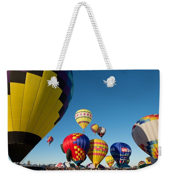 Mass Launch Weekender Tote Bag