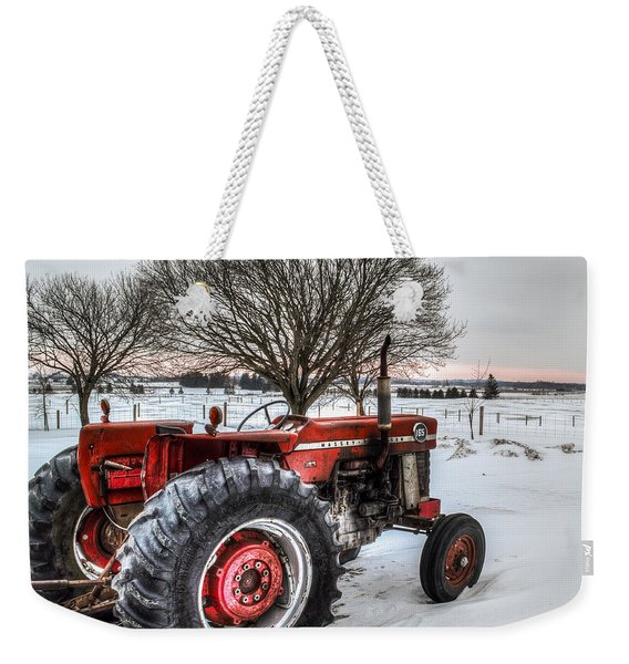 Weekender Tote Bag featuring the photograph Massey Ferguson 165 by Garvin Hunter