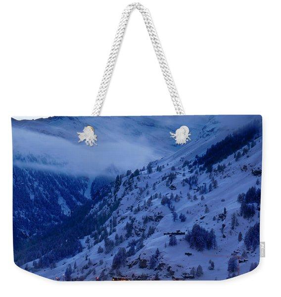 Weekender Tote Bag featuring the photograph Matterhorn At Twilight by Brian Jannsen