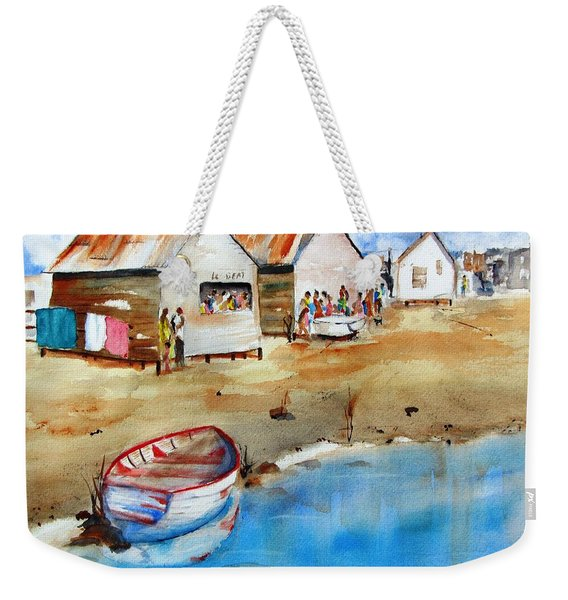 Mauricio's Village - Beach Huts Weekender Tote Bag