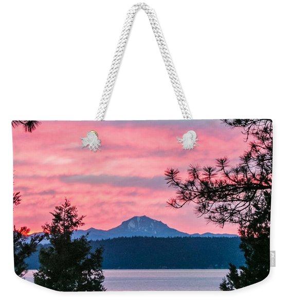 Mauve Magnificence Weekender Tote Bag