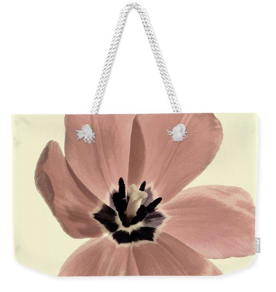 Mauve Tulip Transparency Weekender Tote Bag