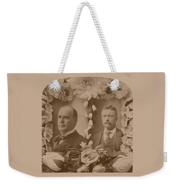 Mckinley And Roosevelt Weekender Tote Bag