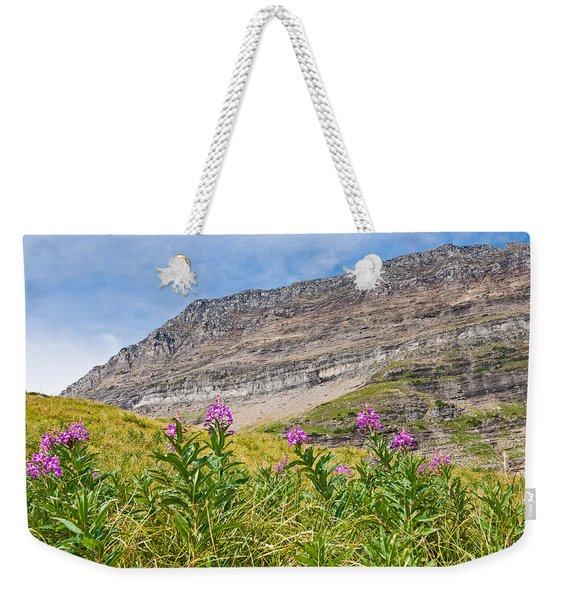 Meadow Of Fireweed Below The Continental Divide Weekender Tote Bag