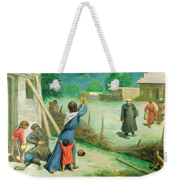 Mean Collection, 1891 Oil On Canvas Weekender Tote Bag