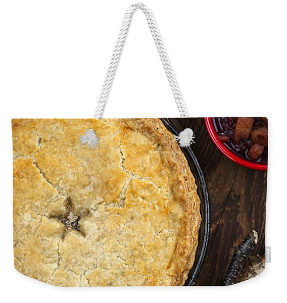 Meat Pie Tourtiere Weekender Tote Bag