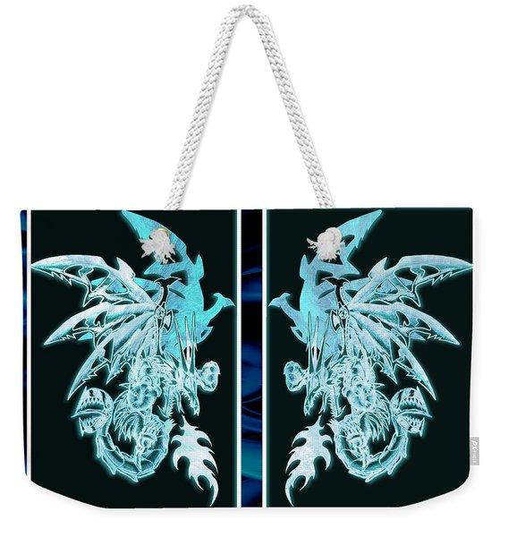 Mech Dragons Diamond Ice Crystals Weekender Tote Bag