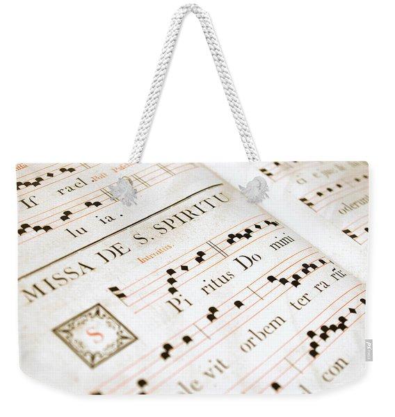 Mediavel Chorus Book  Weekender Tote Bag