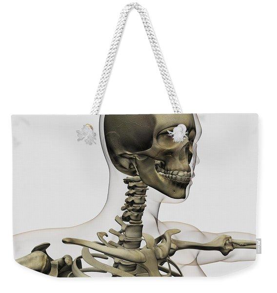 Medical Illustration Of A Womans Skull Weekender Tote Bag