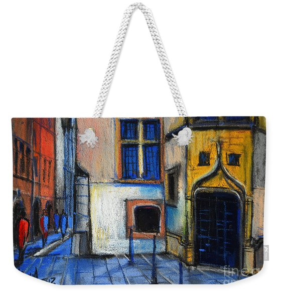 Medieval Architecture In Vieux Lyon France Weekender Tote Bag