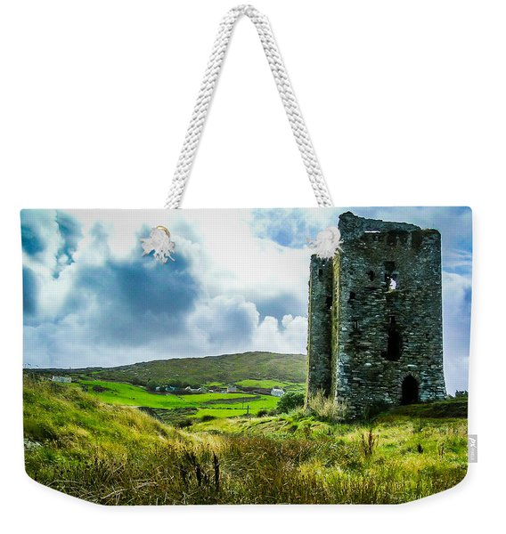 Medieval Dunmanus Castle On Ireland's Mizen Peninsula Weekender Tote Bag