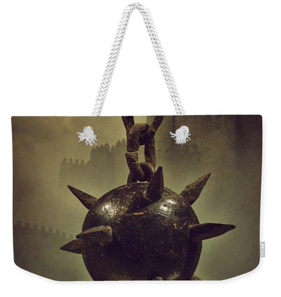 Medieval Spike Ball  Weekender Tote Bag