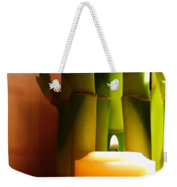 Meditation Candle And Bamboo Weekender Tote Bag