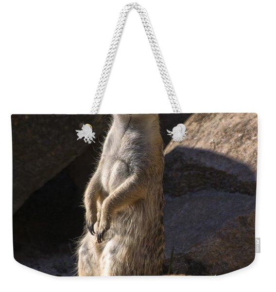 Meerkat Looking Forward Weekender Tote Bag