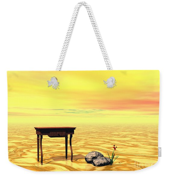 Meeting On Plain - Surrealism Weekender Tote Bag