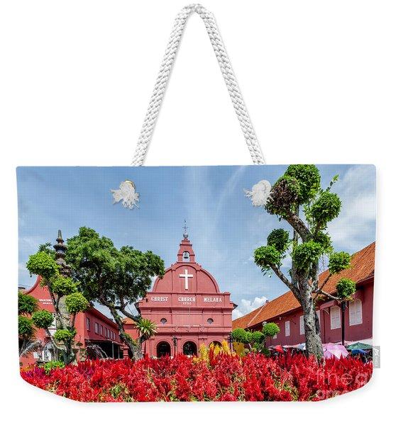 Melaka Red Square Weekender Tote Bag