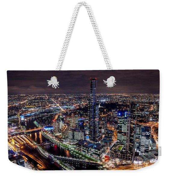 Melbourne At Night IIi Weekender Tote Bag